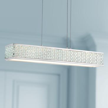 "Euro Garamond 30 1/4"" Wide Chrome LED Island Pendant"