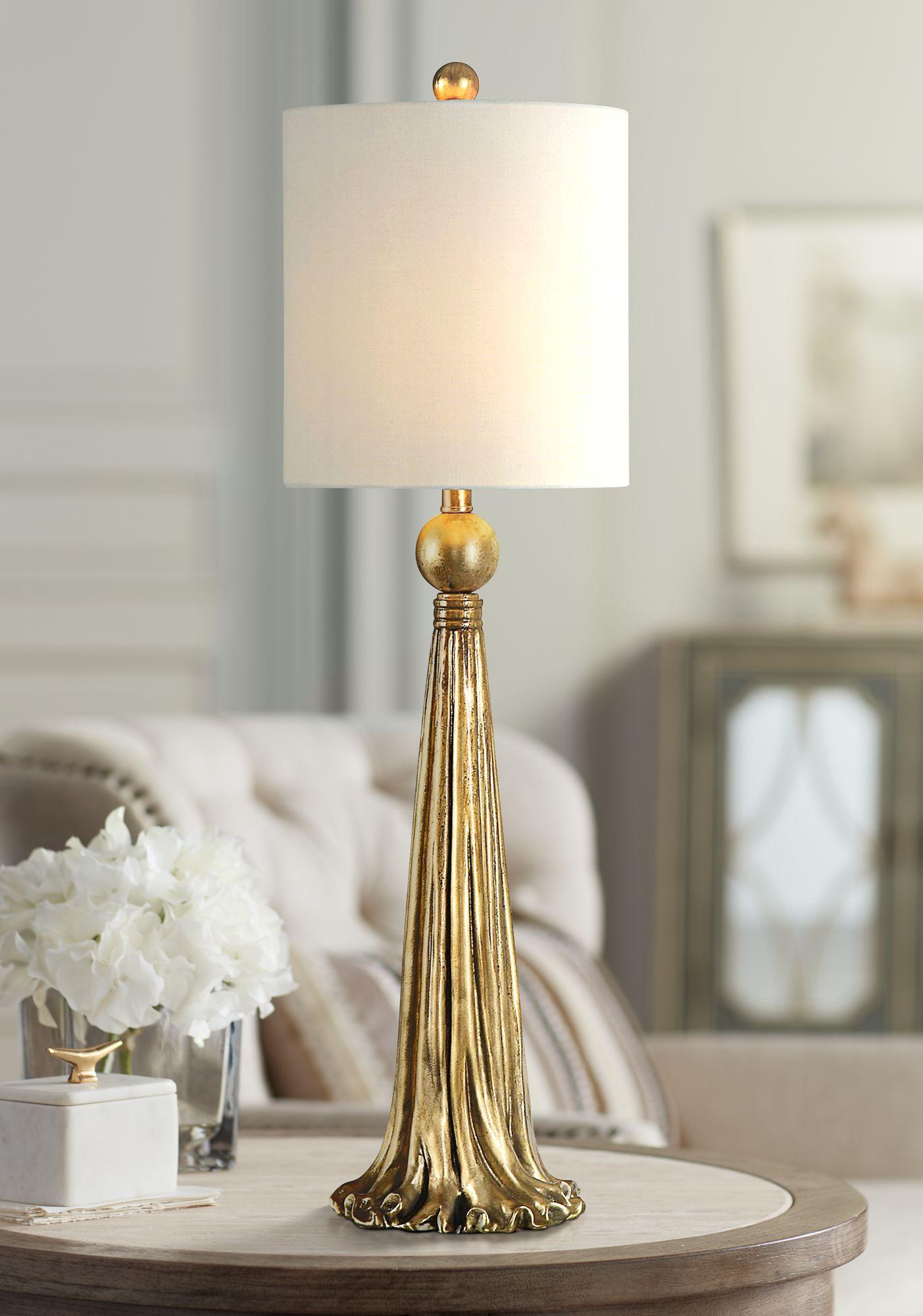 Uttermost Paravani Antique Metallic Gold Buffet Table Lamp