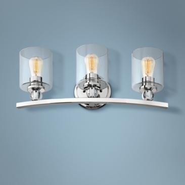 "Studio 5 24"" Wide Polished Nickel 3-Light Bath Light"
