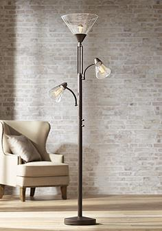 Bronze task reading floor lamps lamps plus warwick tree torchiere floor lamp with edison bulbs aloadofball Image collections