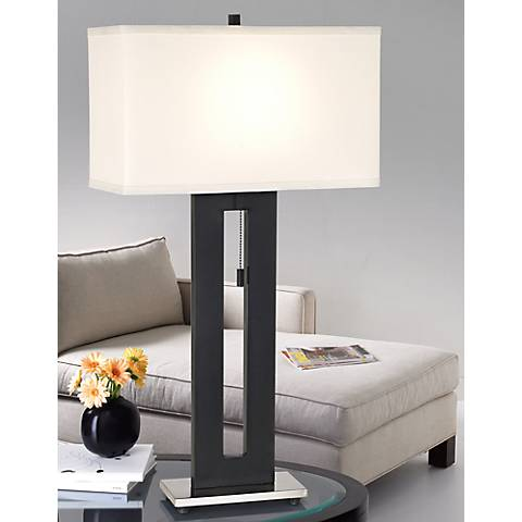 "Right Angle 27 1/2"" High Table Lamp by 360 Lighting"