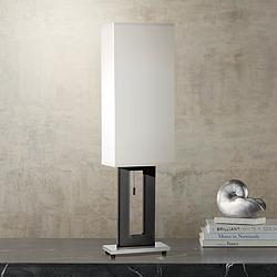 Floating Rectangle Black Finish Modern Table Lamp