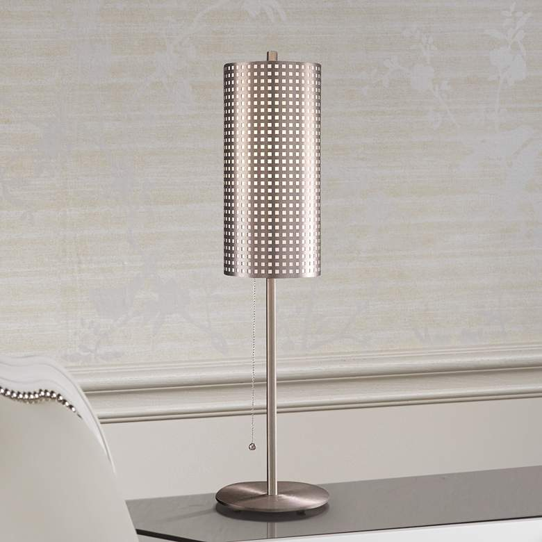 George Kovacs Grid Stick Perforated Steel Table Lamp