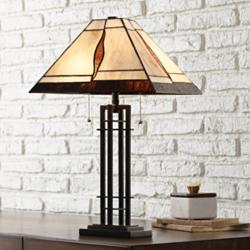 Robert Louis Tiffany Lewis Metal Accent Table Lamp