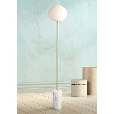 Possini Euro Bally Globe Floor Lamp With Marble Base