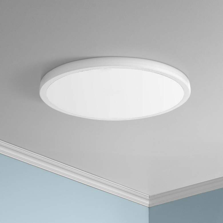 "dweLED Geos 15"" Wide White LED Ceiling Light"