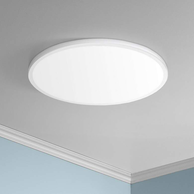 "dweLED Geos 22"" Wide White LED Ceiling Light"