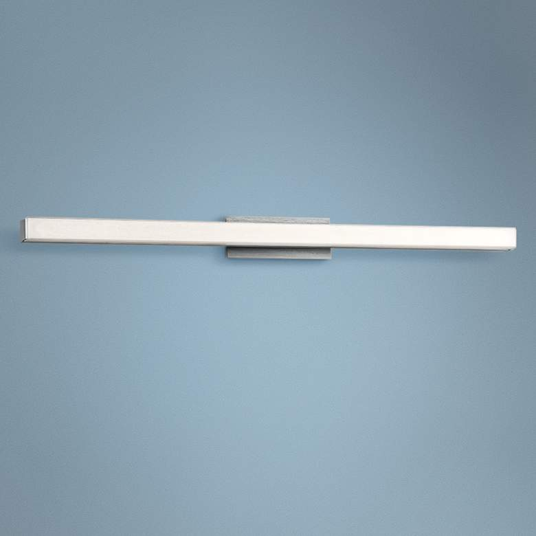 "dweLED Brink 36"" Wide Brushed Aluminum 3000K LED Bath Light"