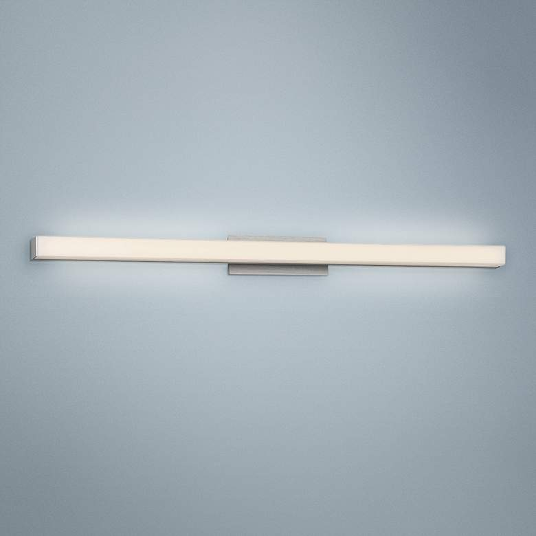 "dweLED Brink 36"" Wide Brushed Aluminum 3500K LED Bath Light"