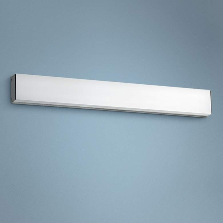 "dweLED Strip 24"" Wide Brushed Aluminum 3500K LED Bath Light"