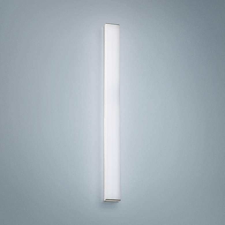 "dweLED Strip 36"" Wide Brushed Aluminum 3000K LED Bath Light"