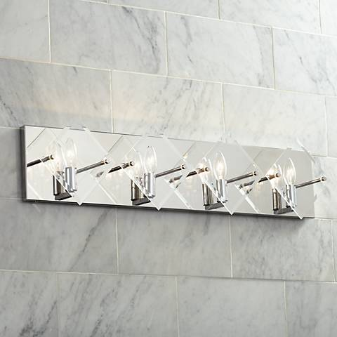 "Possini Euro Collins 30 3/4"" Wide Chrome 4-Light Bath Light"