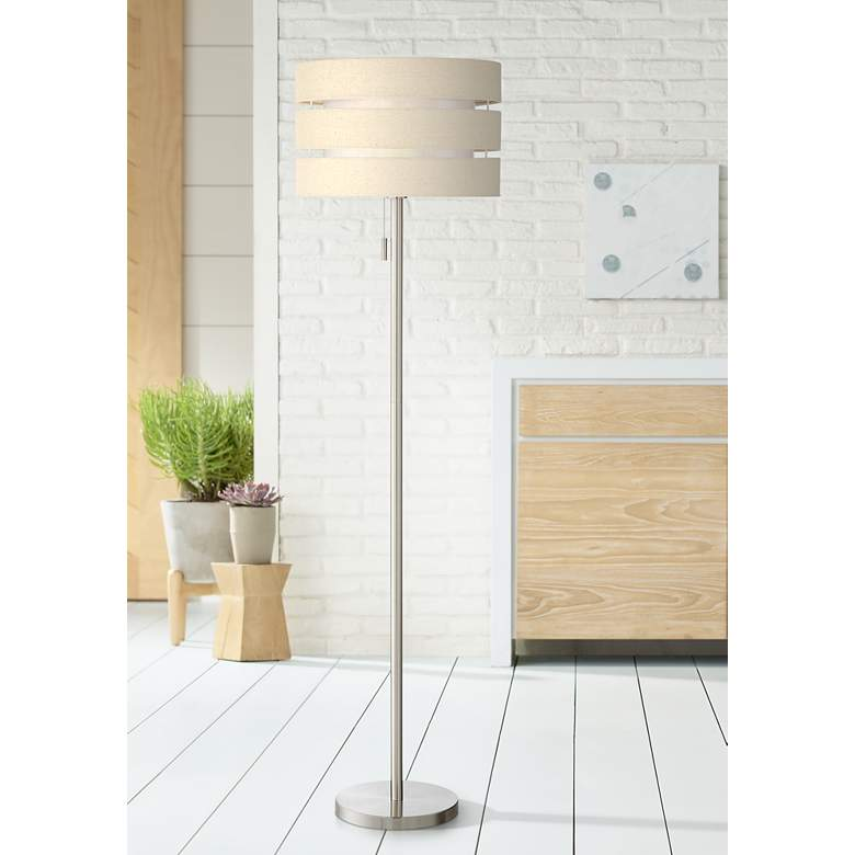 Lite Source Falan Brushed Nickel Floor Lamp