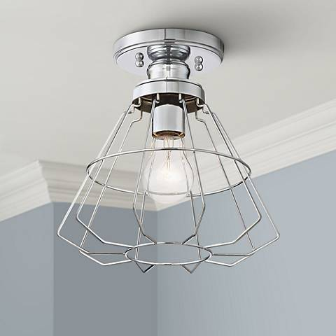 "Nicholas 10"" Wide Chrome Ceiling Light"