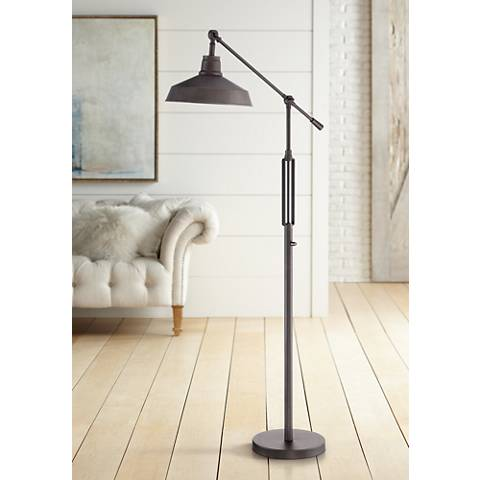 Turnbuckle Downbridge LED Floor Lamp Bronze Finish