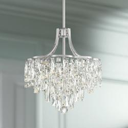 "Villette 15 3/4"" Wide Chrome LED Crystal Pendant Light"