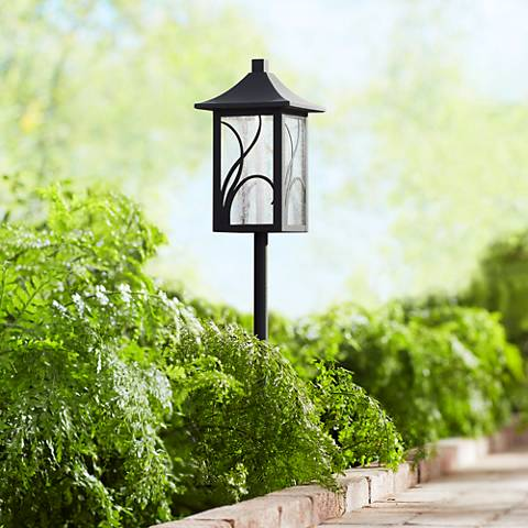 "Sleator 23 3/4"" High Textured Black LED Landscape Path Light"