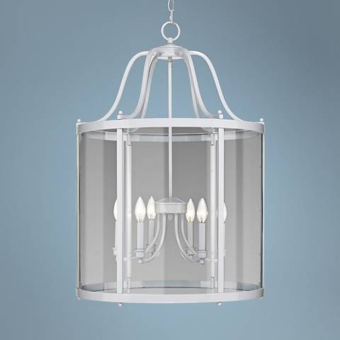 "Payton 22 1/4"" Wide White 6-Light Pendant"