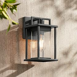 "Wickham 11"" High Dark Gray Framed Outdoor Wall Light"