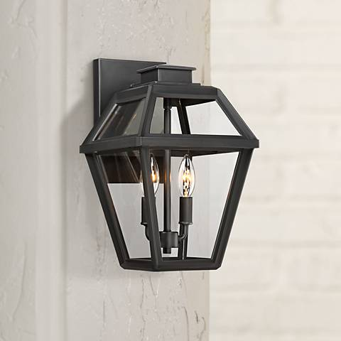 "Wickham 12 1/4"" High Gray Outdoor Wall Light"