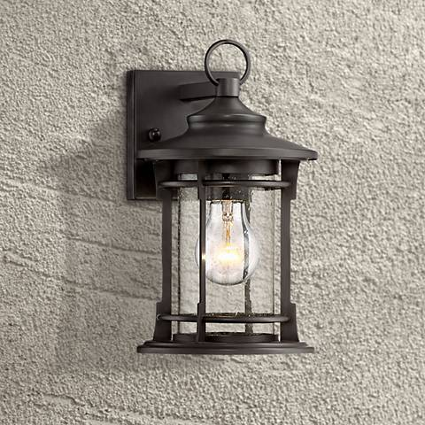 "Grenville 11"" High Bronze Outdoor Wall Light"