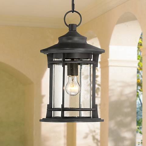 "Grenville 16 3/4"" High Bronze Outdoor Hanging Light"