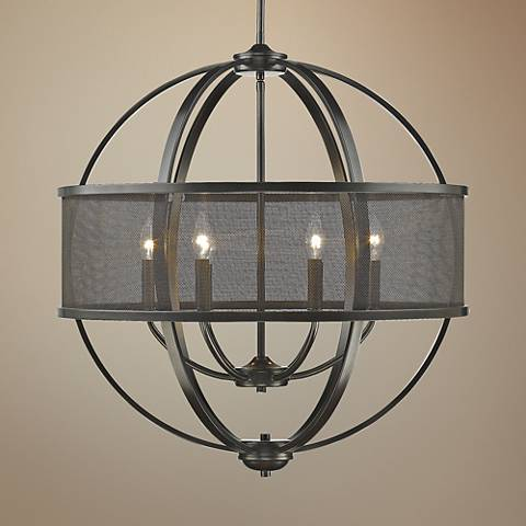 "Colson 26 3/4"" Wide Etruscan Bronze 6-Light Chandelier"