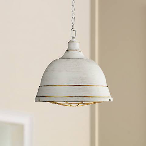 "Bartlett 16 1/2"" Wide French White Pendant Light"