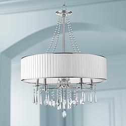 "Echelon 26 1/4"" Wide Chrome Chandelier"