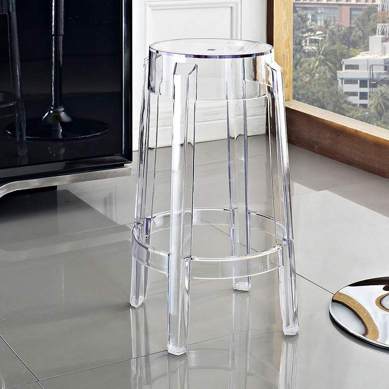 "Casper 26 1/2"" Clear Counter Stool"