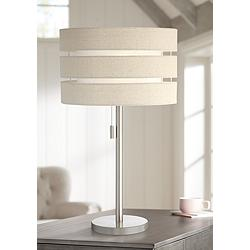Lite Source Falan Brushed Nickel Modern Table Lamp