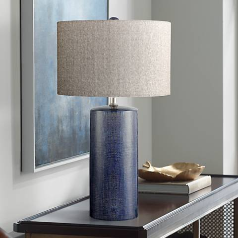 Lite Source Jacoby Navy Blue Ceramic Table Lamp 33t79 Lamps Plus