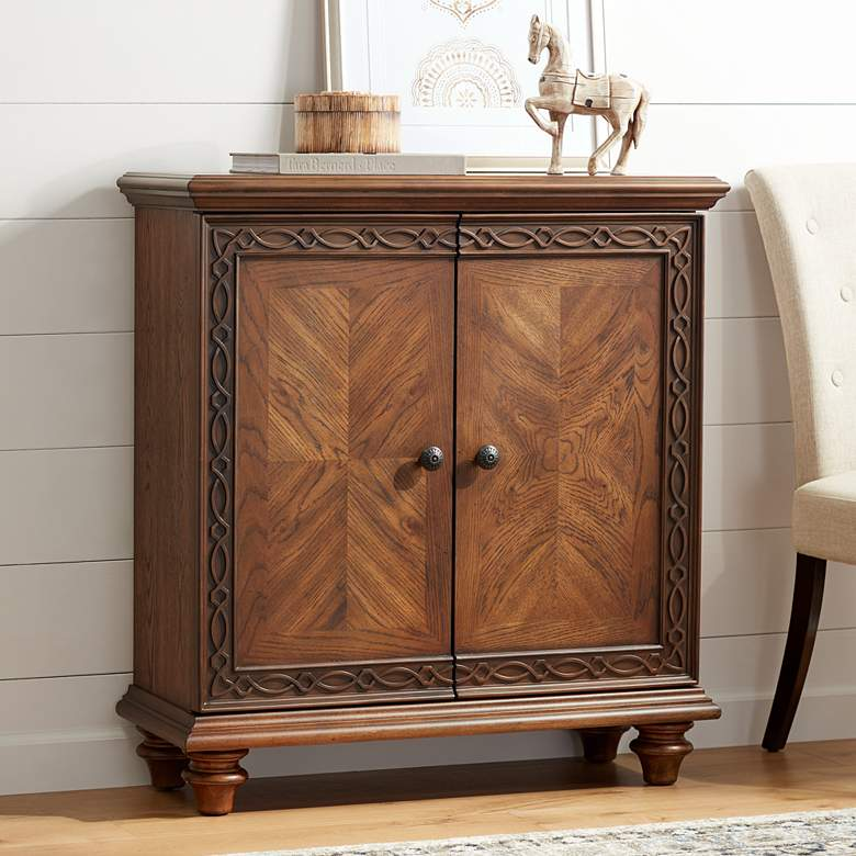 "Manchester 36"" Wide Cacao Brown 2-Door Storage Cabinet"