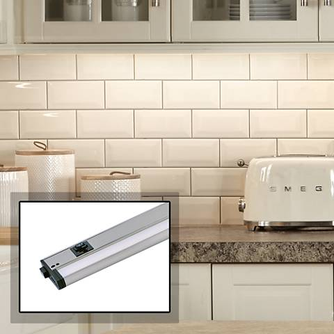 "CounterMax MX-L-120-3K 18""W Nickel LED Undercabinet Light"