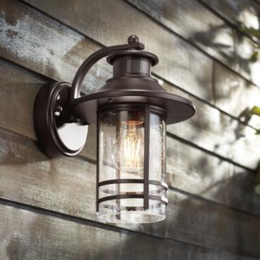 "Galt 11 1/4"" High Bronze Motion Sensor Outdoor Wall Light"