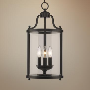 "Payton 9"" Wide Black 3-Light Mini Pendant"