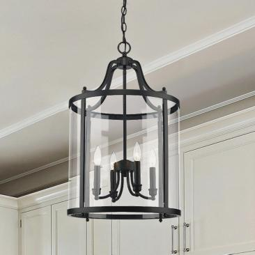 "Payton 16"" Wide Black 4-Light Pendant"