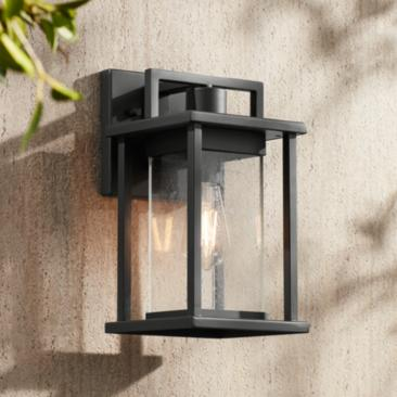 "Wickham 13"" High Dark Gray Framed Outdoor Wall Light"