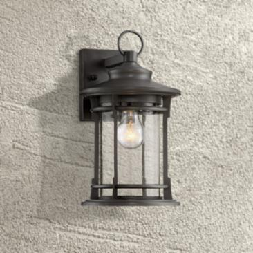 "Grenville 13 3/4"" High Bronze Outdoor Wall Light"