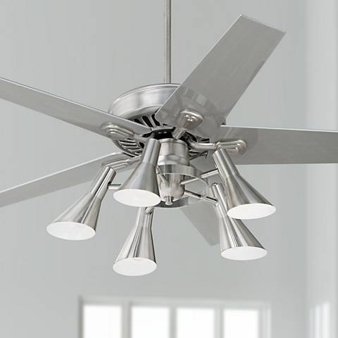 "52"" Windstar II Brushed Steel with Silver Ceiling Fan"