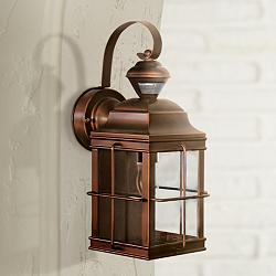 "Carriage Bronze 14 3/4"" High Motion Sensor Outdoor Light"