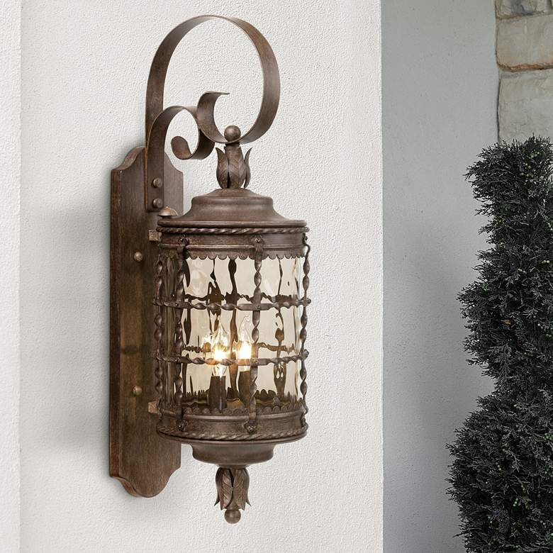 Mallorca Collection 28 5 8 High Vintage Rust Outdoor Light
