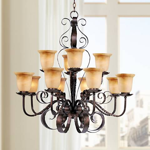 "Aspen Collection 36"" Wide 12 Light Chandelier"
