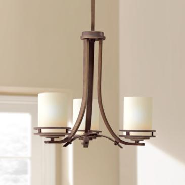 "Hendrik Bronze Finish 19"" Wide 3-Light Chandelier by Kichler"