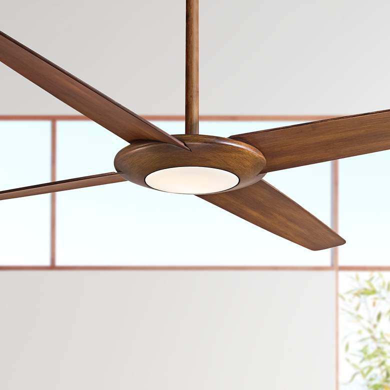62 Minka Aire Pancake Xl Distressed Koa Led Ceiling Fan 34e10 Lamps Plus