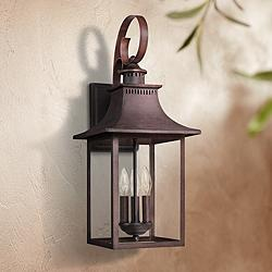 "Quoizel Chancellor 23 1/2""H Copper Bronze Outdoor Wall Light"