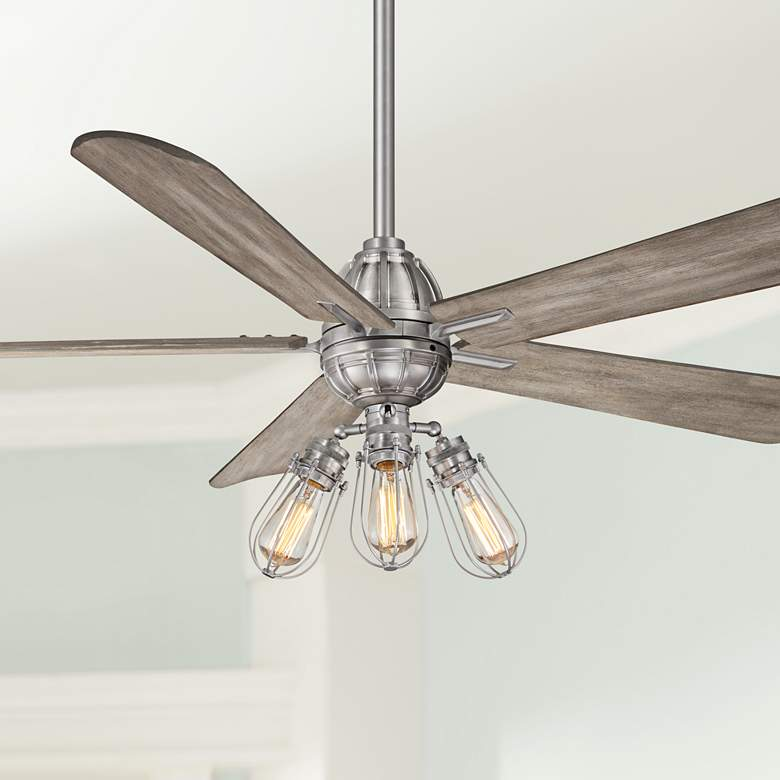 "56"" Minka Aire Alva Brushed Nickel LED Ceiling"