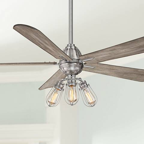 "56"" Minka Aire Alva Brushed Nickel LED Ceiling Fan"
