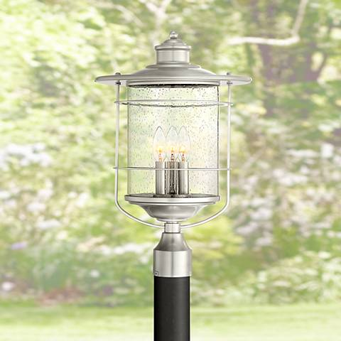 "Casa Mirada 19 3/4"" High Brushed Nickel Outdoor Post Light"