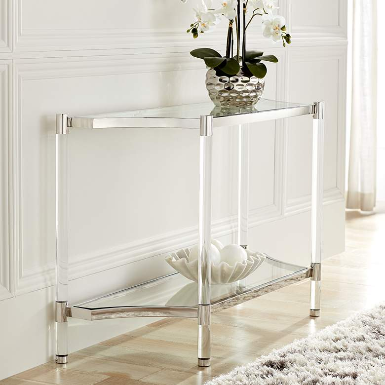 Erica 48 Quot Wide Clear Acrylic Console Table 34r71